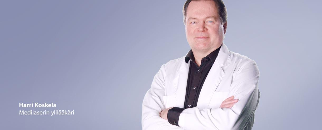 Medilaserin ylilääkäri Harri Koskela toimii Espoossa ja Tampereella.