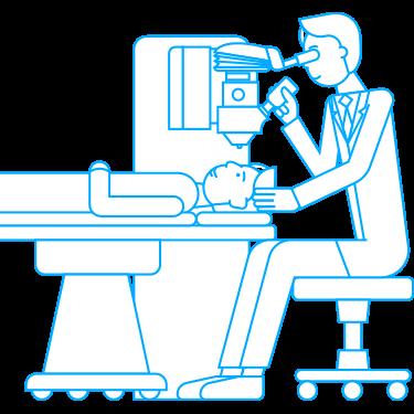 Laserleikkauksella voidaan korjata lähi- tai kaukonäköä. Medilaserissa tehdään SMILE, FEMTO, LASIK ja PRK-laserleikkauksia.