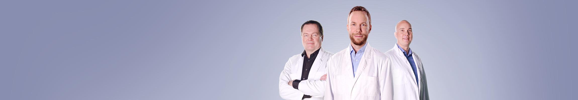 Harri Koskela, Antti Viljanen ja Kimmo Koskela ovat Medilaserin osakkeenomistajia.
